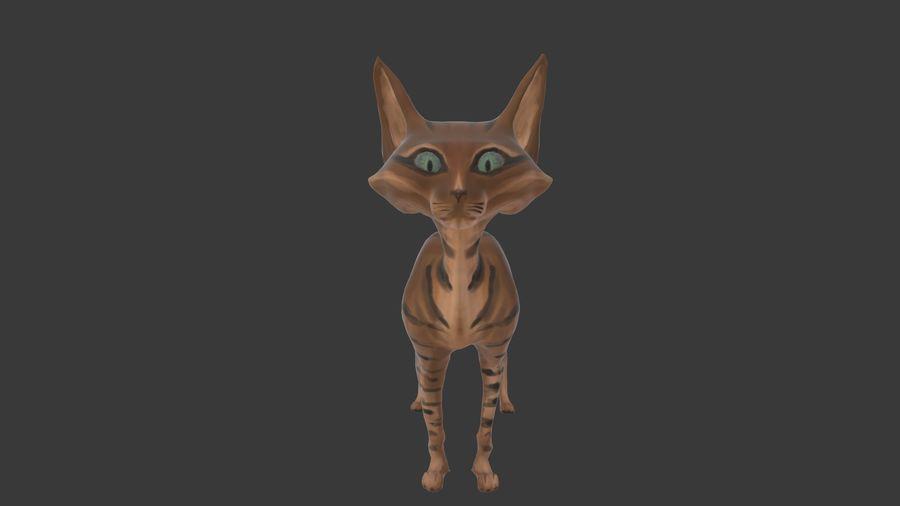Gatto dipinto con i capelli royalty-free 3d model - Preview no. 9