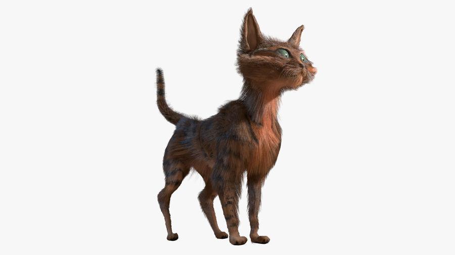 Gatto dipinto con i capelli royalty-free 3d model - Preview no. 3