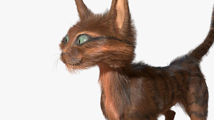 Gatto dipinto con i capelli royalty-free 3d model - Preview no. 5