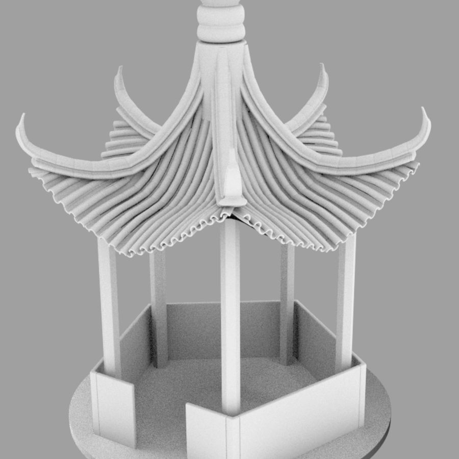 пагода royalty-free 3d model - Preview no. 10