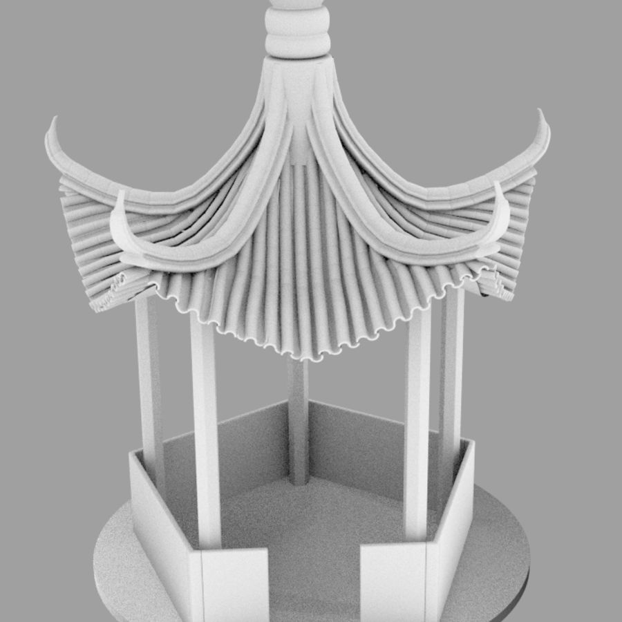 пагода royalty-free 3d model - Preview no. 6