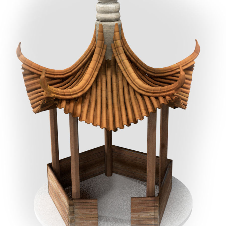 пагода royalty-free 3d model - Preview no. 1