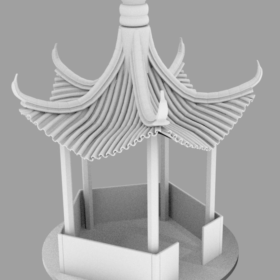 пагода royalty-free 3d model - Preview no. 7