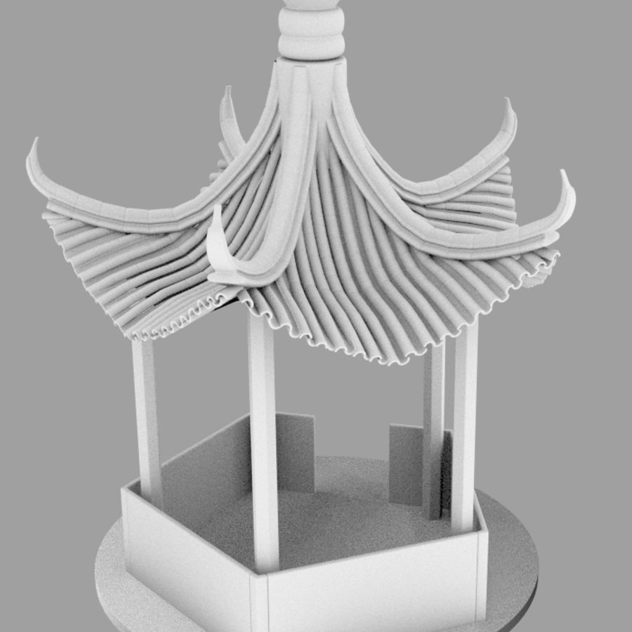пагода royalty-free 3d model - Preview no. 8