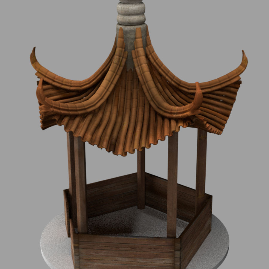 пагода royalty-free 3d model - Preview no. 4