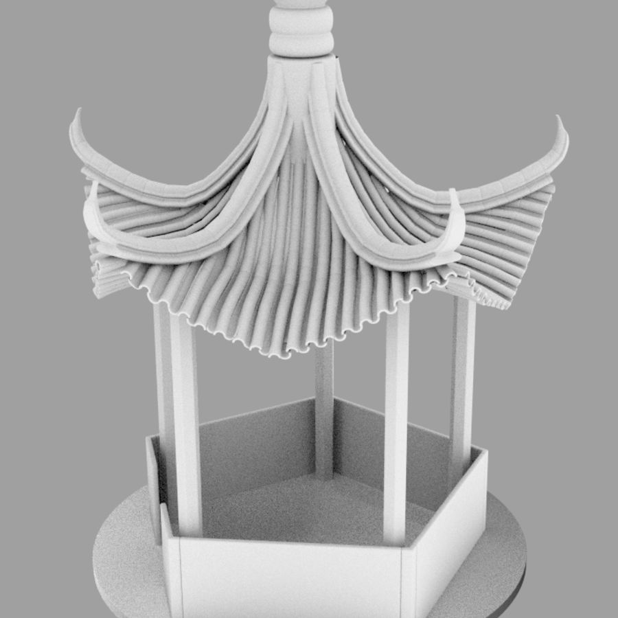 пагода royalty-free 3d model - Preview no. 9