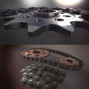Tandwielen met ketting HIGHRESS 3d model