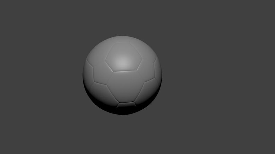 SoccerBall - Low Poly royalty-free 3d model - Preview no. 2