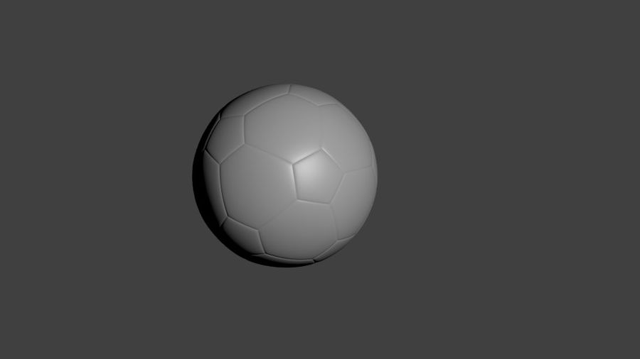 SoccerBall - Low Poly royalty-free 3d model - Preview no. 3