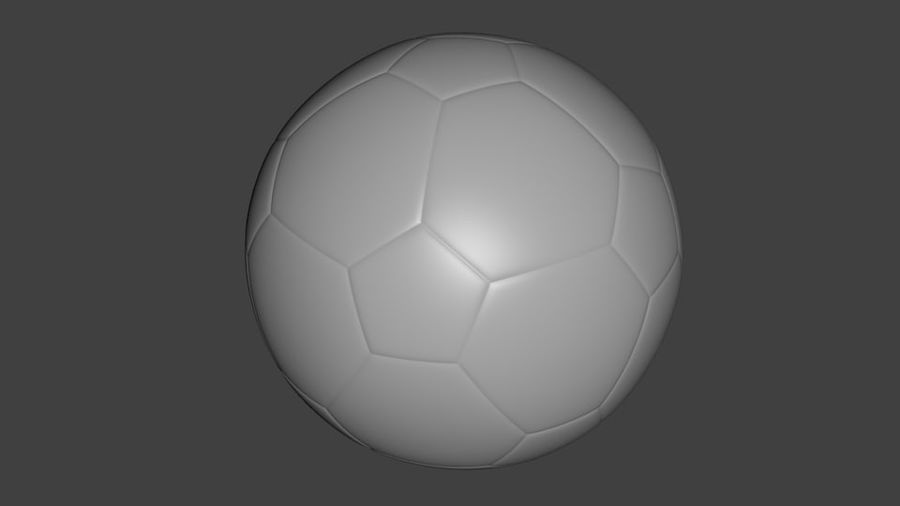 SoccerBall - Low Poly royalty-free 3d model - Preview no. 5