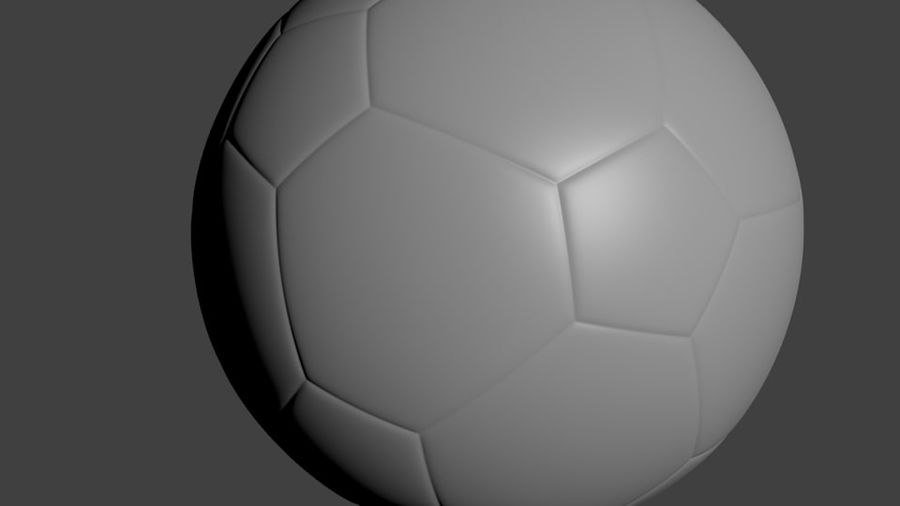 SoccerBall - Low Poly royalty-free 3d model - Preview no. 4