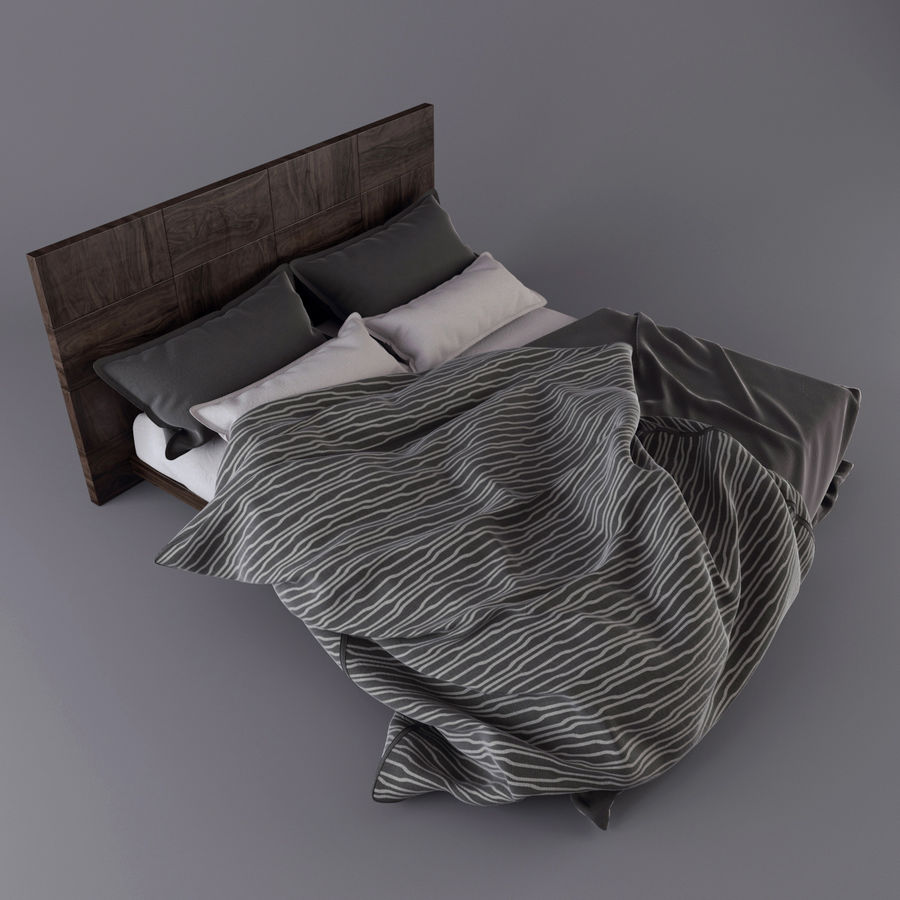 Bedcloth royalty-free 3d model - Preview no. 2