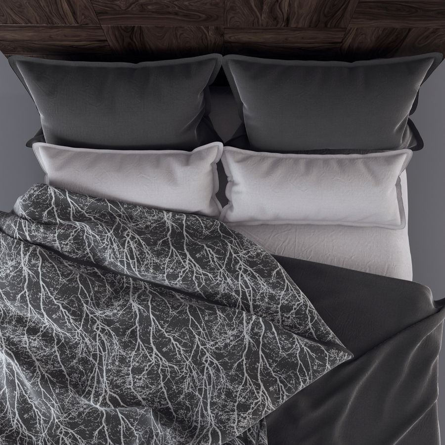 Bedcloth royalty-free 3d model - Preview no. 4