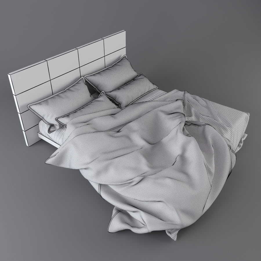 Bedcloth royalty-free 3d model - Preview no. 3