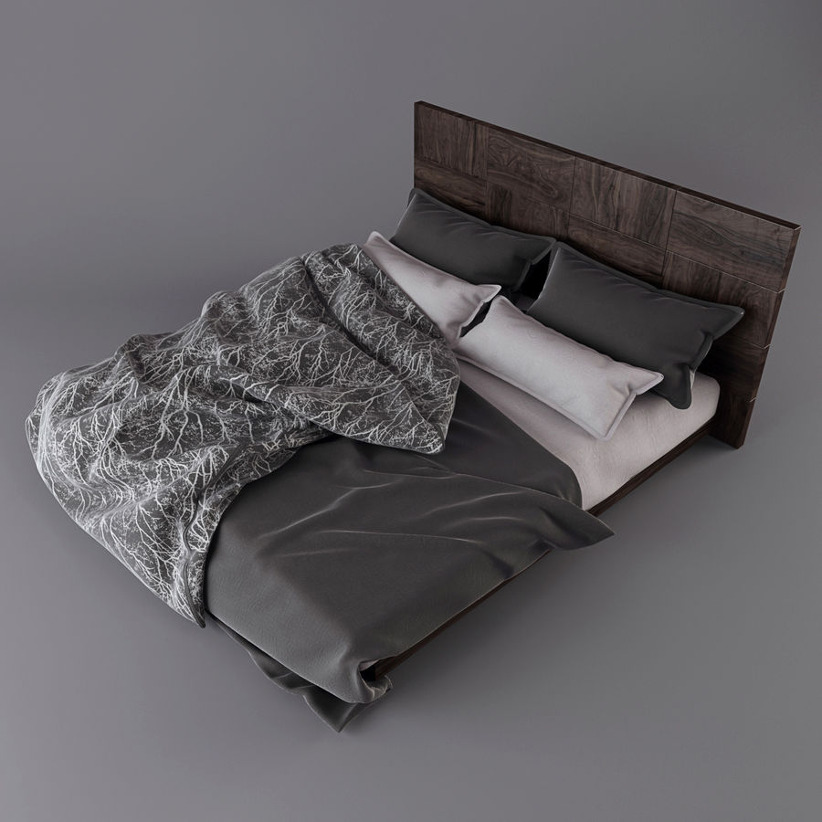 Bedcloth royalty-free 3d model - Preview no. 6