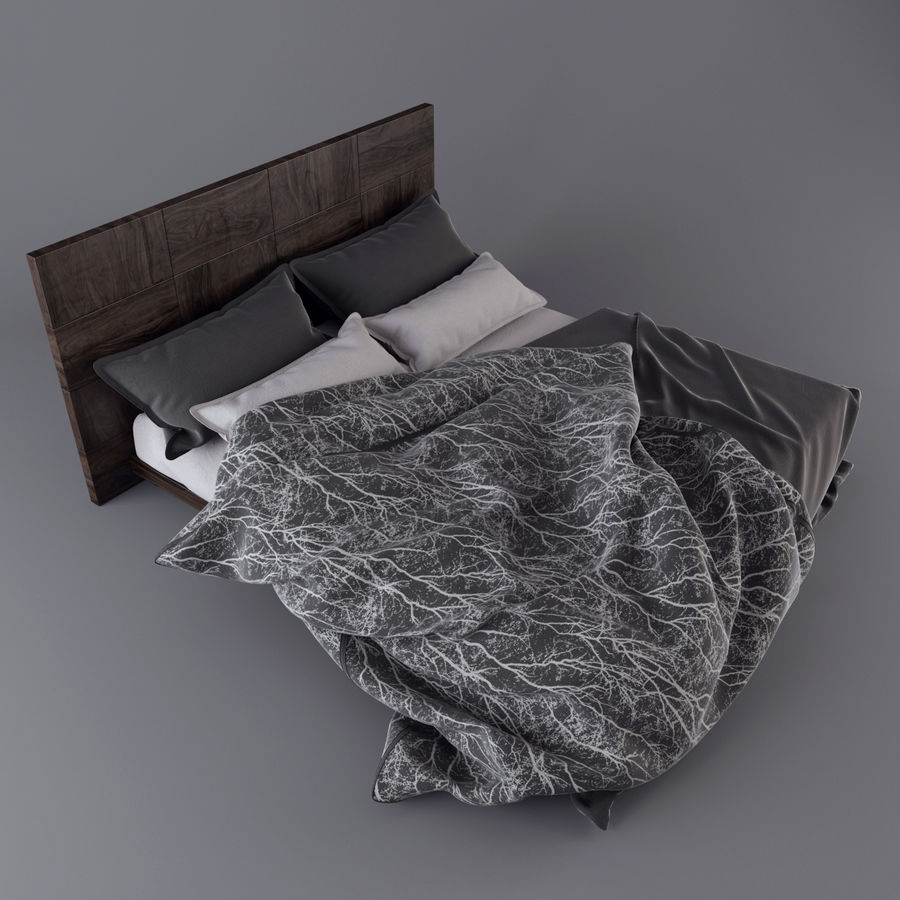 Bedcloth royalty-free 3d model - Preview no. 1