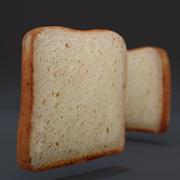 Toast (Slice of Bread) 3d model