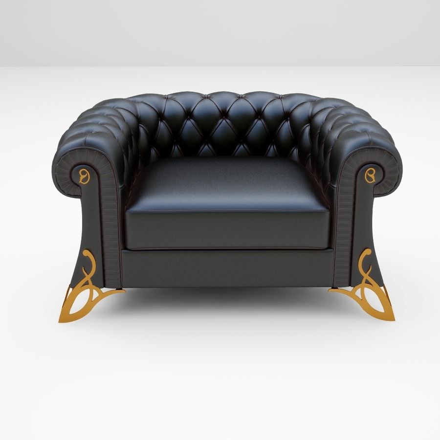 fauteuil royalty-free 3d model - Preview no. 2