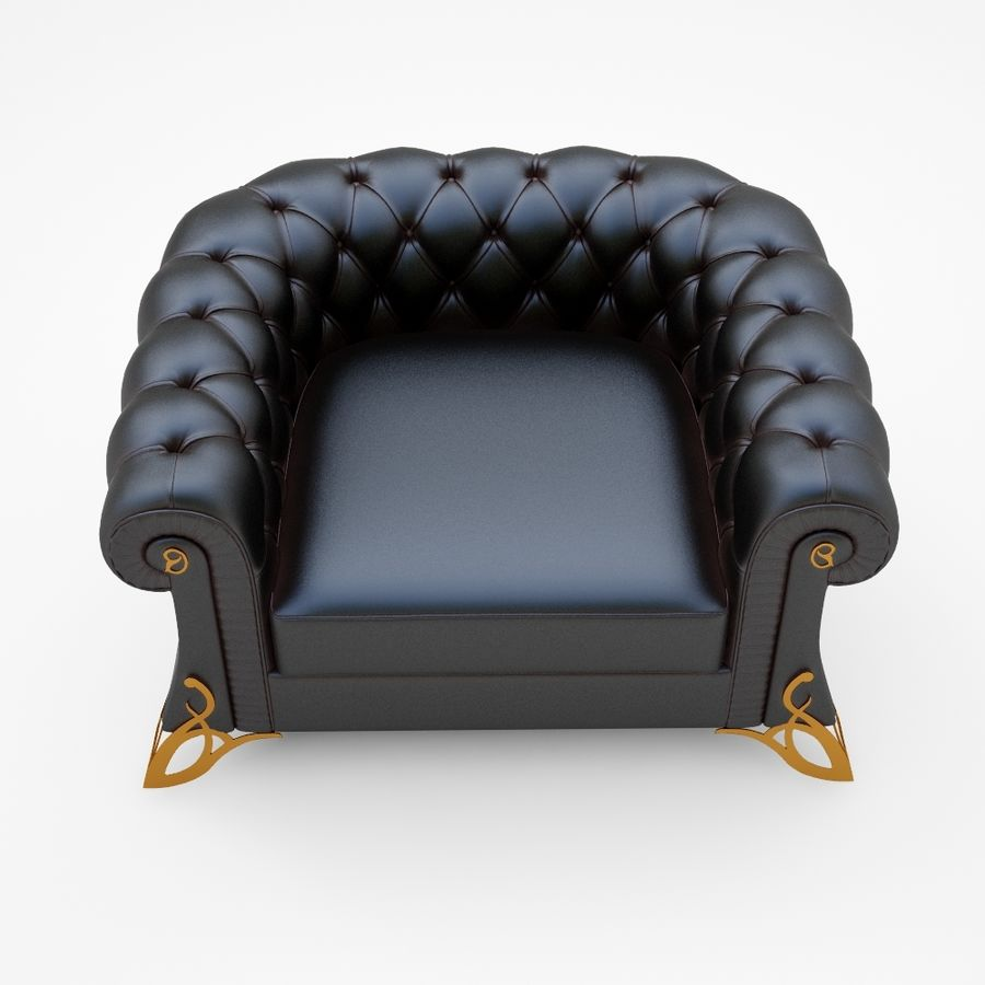 fauteuil royalty-free 3d model - Preview no. 1
