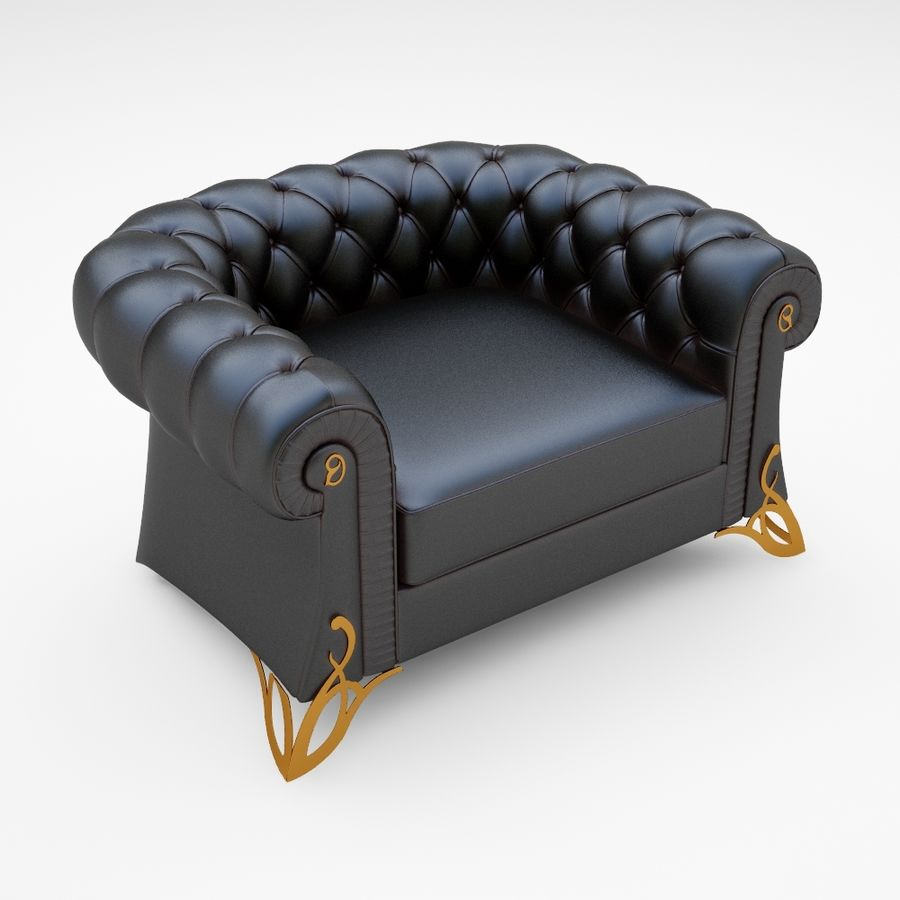 poltrona royalty-free 3d model - Preview no. 3
