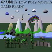 LowPolygon_Set 3d model