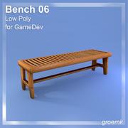 GameDevのベンチ#6低ポリゴン 3d model