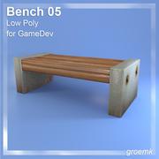 GamesDevのベンチ#5低ポリゴン 3d model