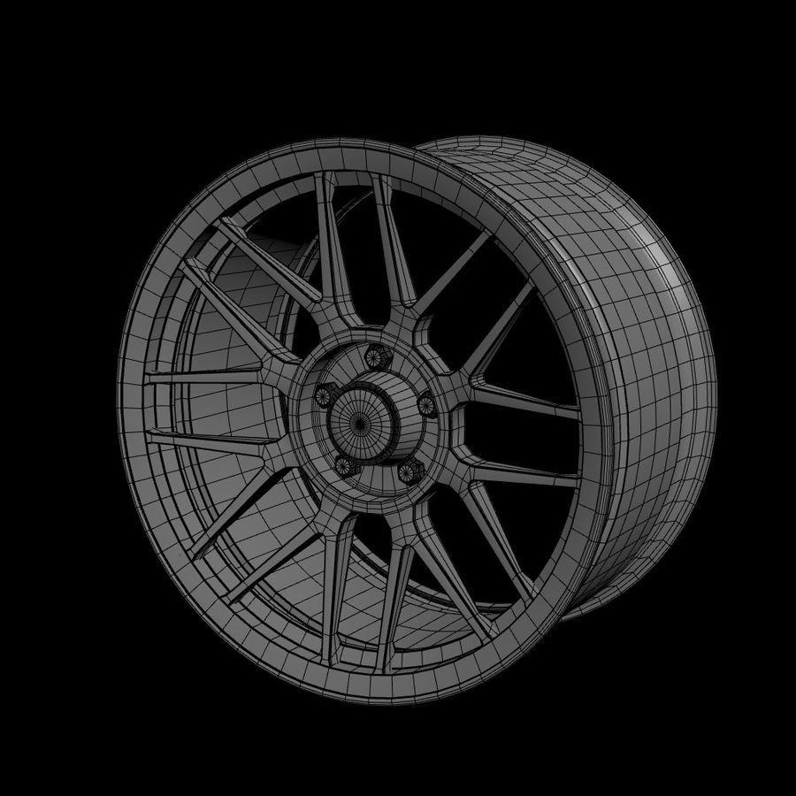 Wheels - Rim - APEX royalty-free 3d model - Preview no. 9