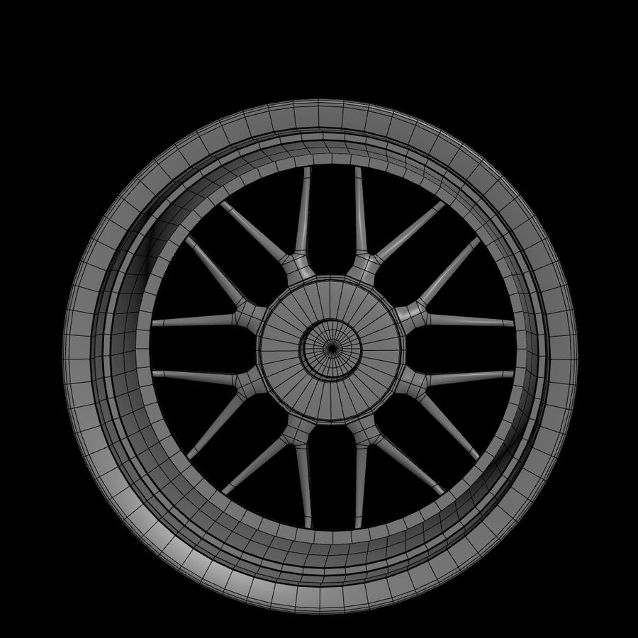 Wheels - Rim - APEX royalty-free 3d model - Preview no. 13