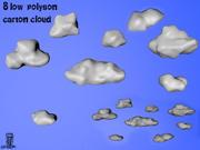 Carton_Cloud 3d model