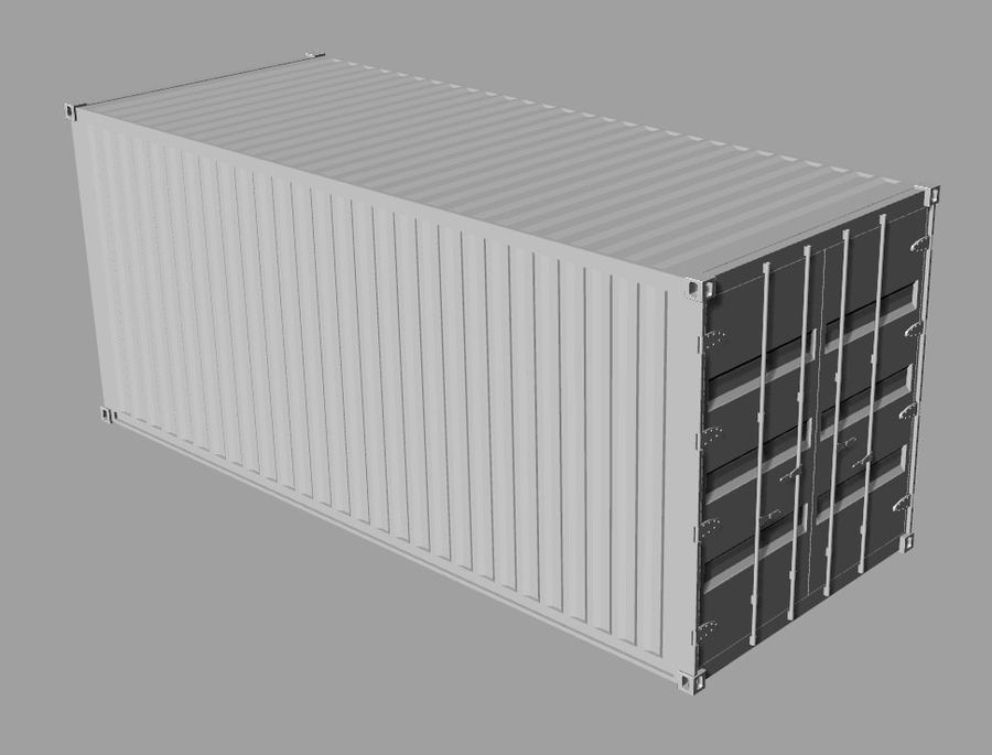 Container 20 ft royalty-free 3d model - Preview no. 5