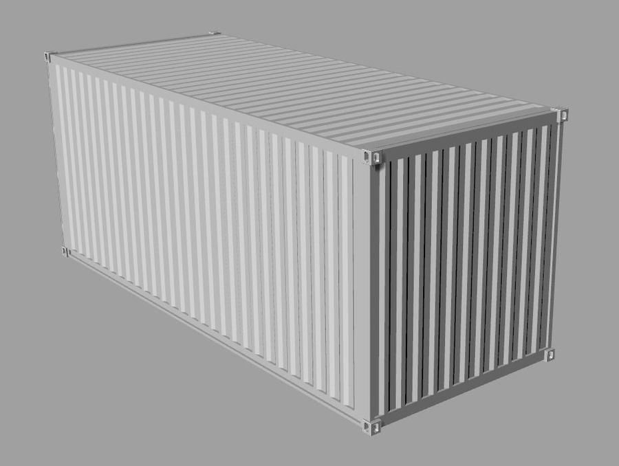 Container 20 ft royalty-free 3d model - Preview no. 6