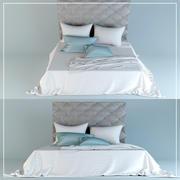 床头板床 3d model