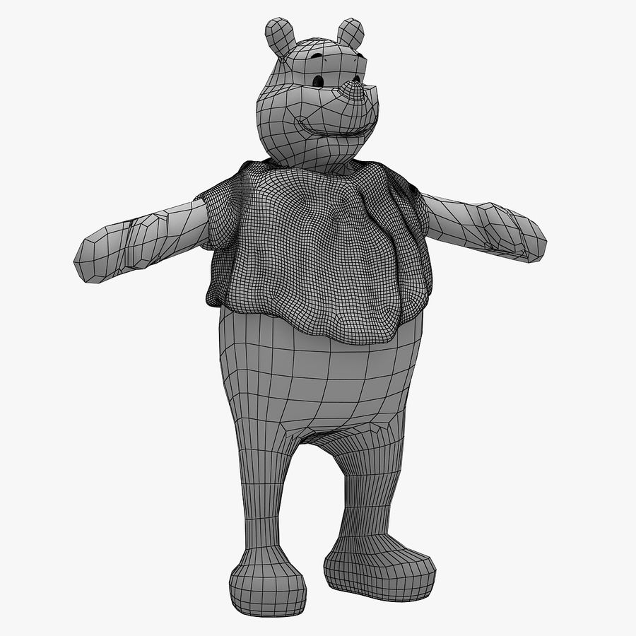 Winnie The Pooh (Not Rigged) royalty-free 3d model - Preview no. 7