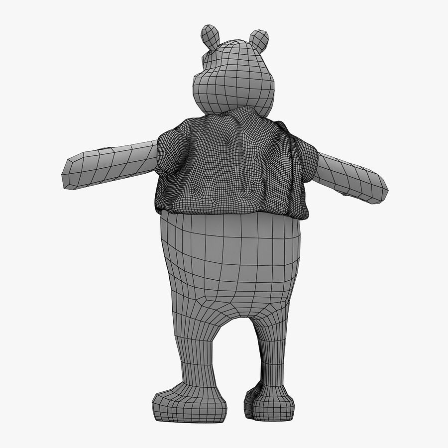 Winnie The Pooh (Not Rigged) royalty-free 3d model - Preview no. 9
