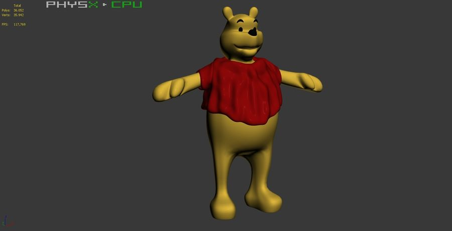 Winnie The Pooh (Not Rigged) royalty-free 3d model - Preview no. 14