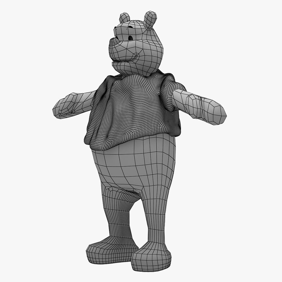 Winnie The Pooh (Not Rigged) royalty-free 3d model - Preview no. 12