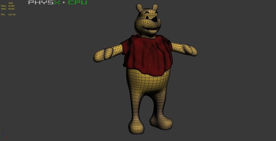 Winnie The Pooh (Not Rigged) royalty-free 3d model - Preview no. 15