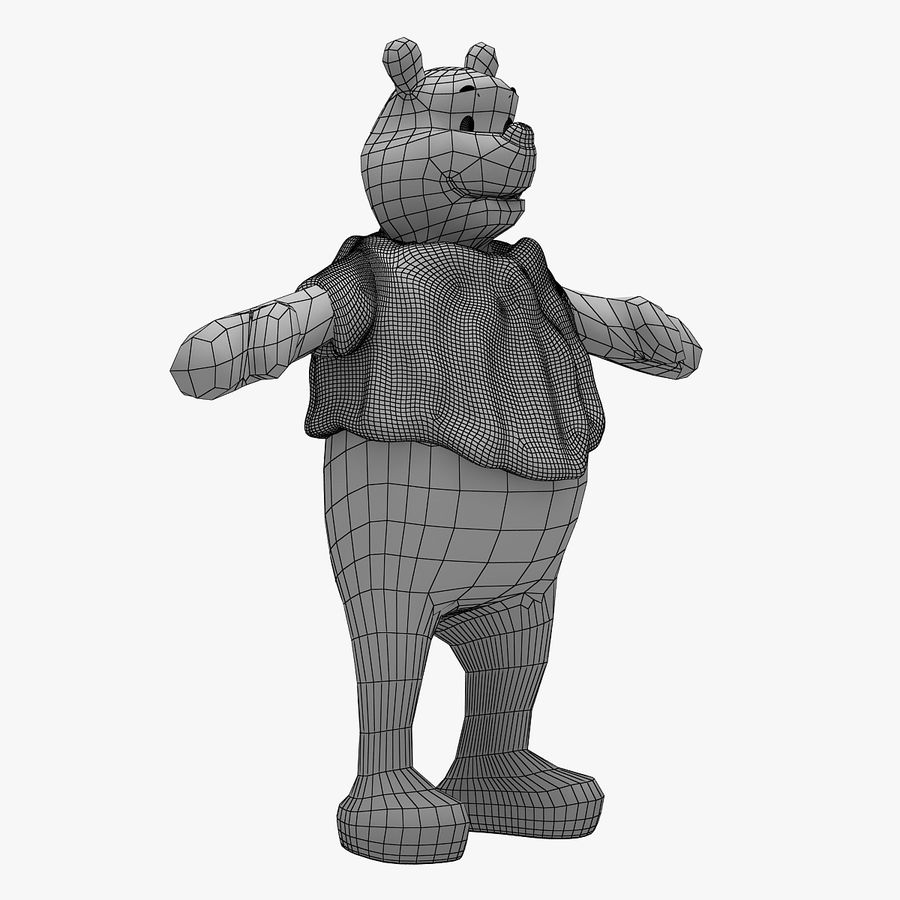Winnie The Pooh (Not Rigged) royalty-free 3d model - Preview no. 11