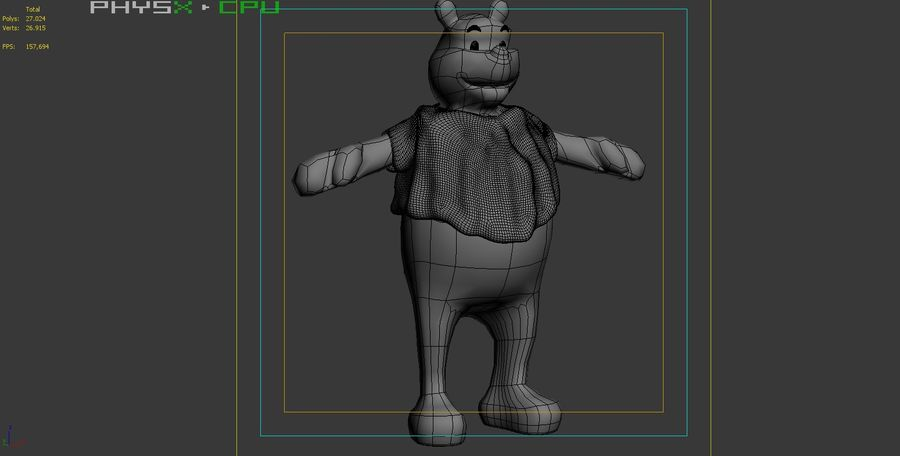 Winnie The Pooh (Not Rigged) royalty-free 3d model - Preview no. 13