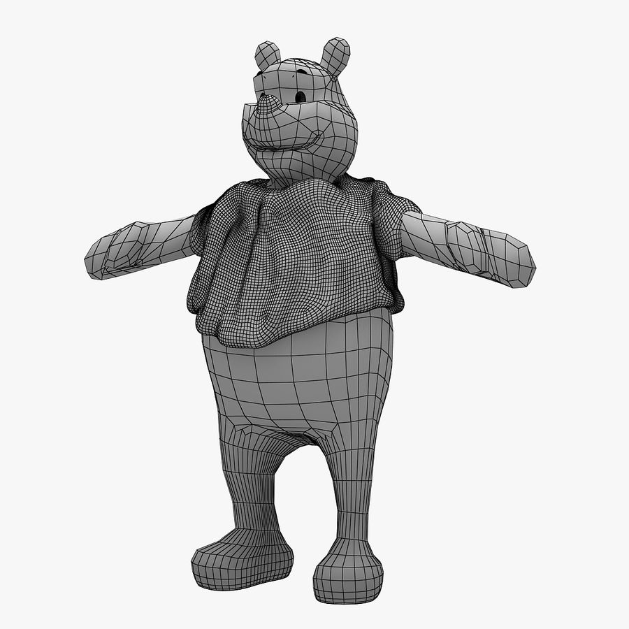 Winnie The Pooh (Not Rigged) royalty-free 3d model - Preview no. 8