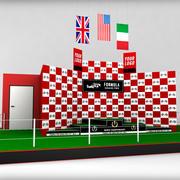 Podio deportivo de Fórmula Uno modelo 3d