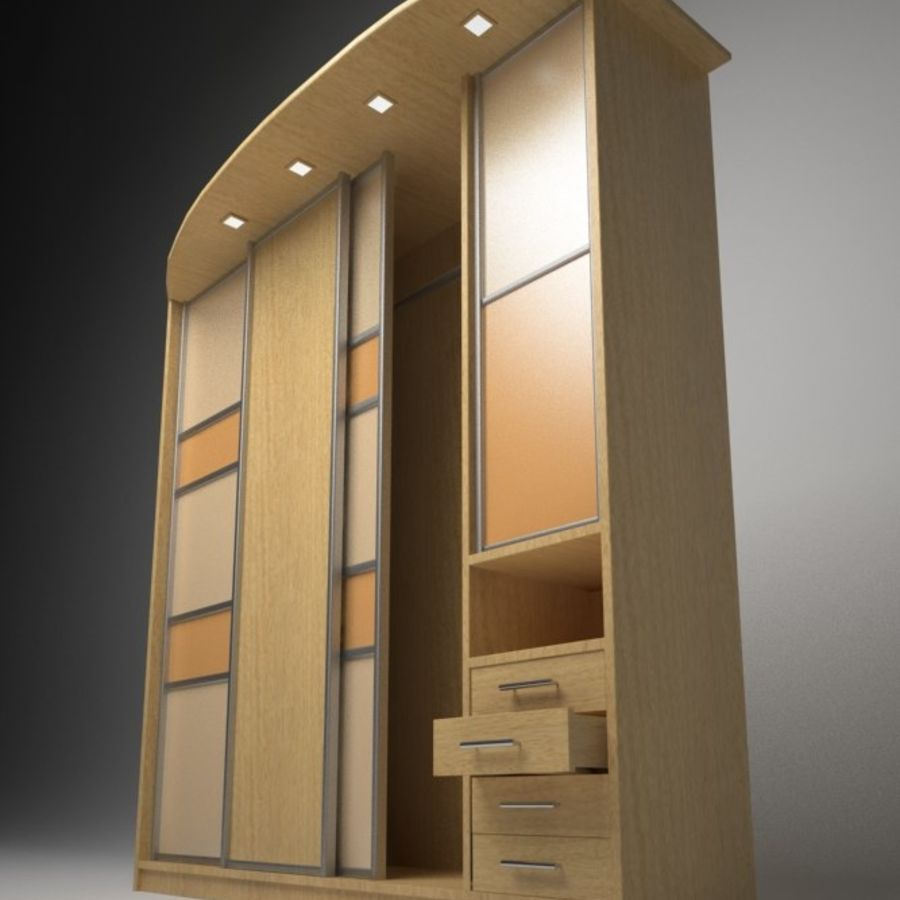 Armoire royalty-free 3d model - Preview no. 4