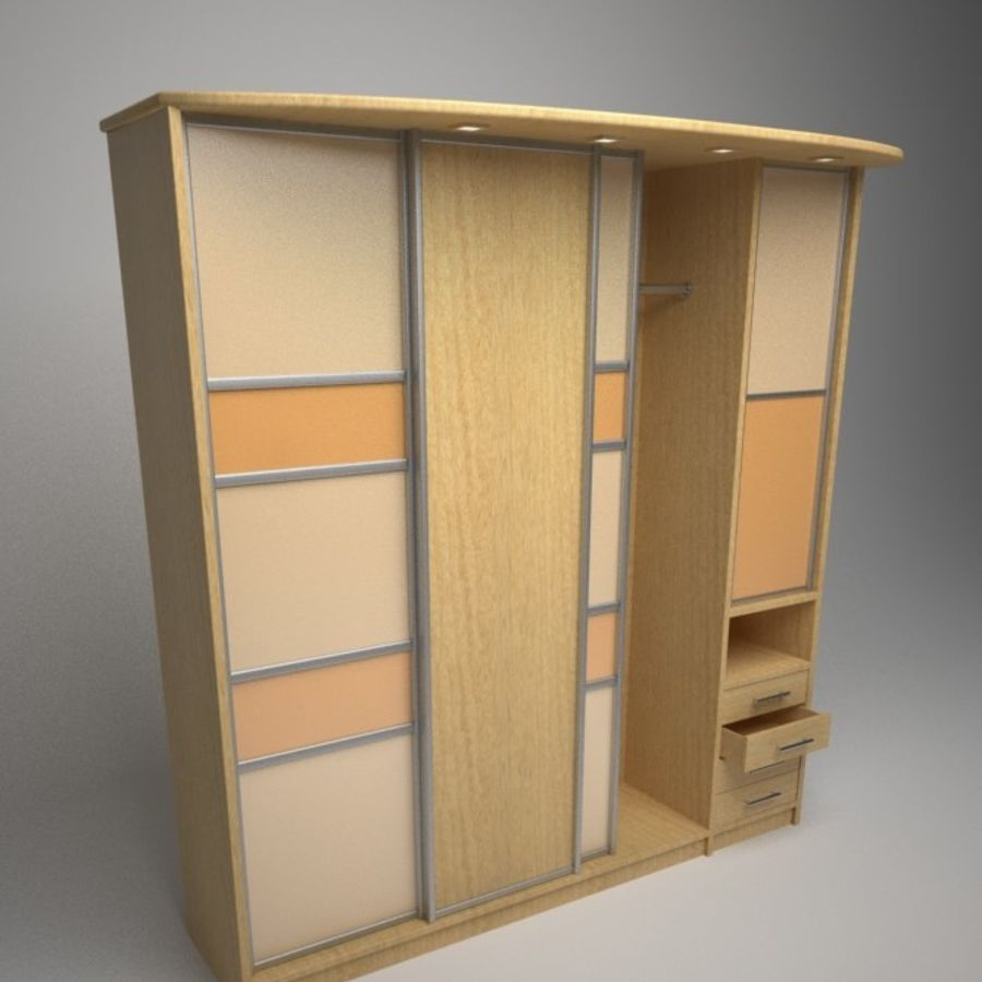 Armoire royalty-free 3d model - Preview no. 5