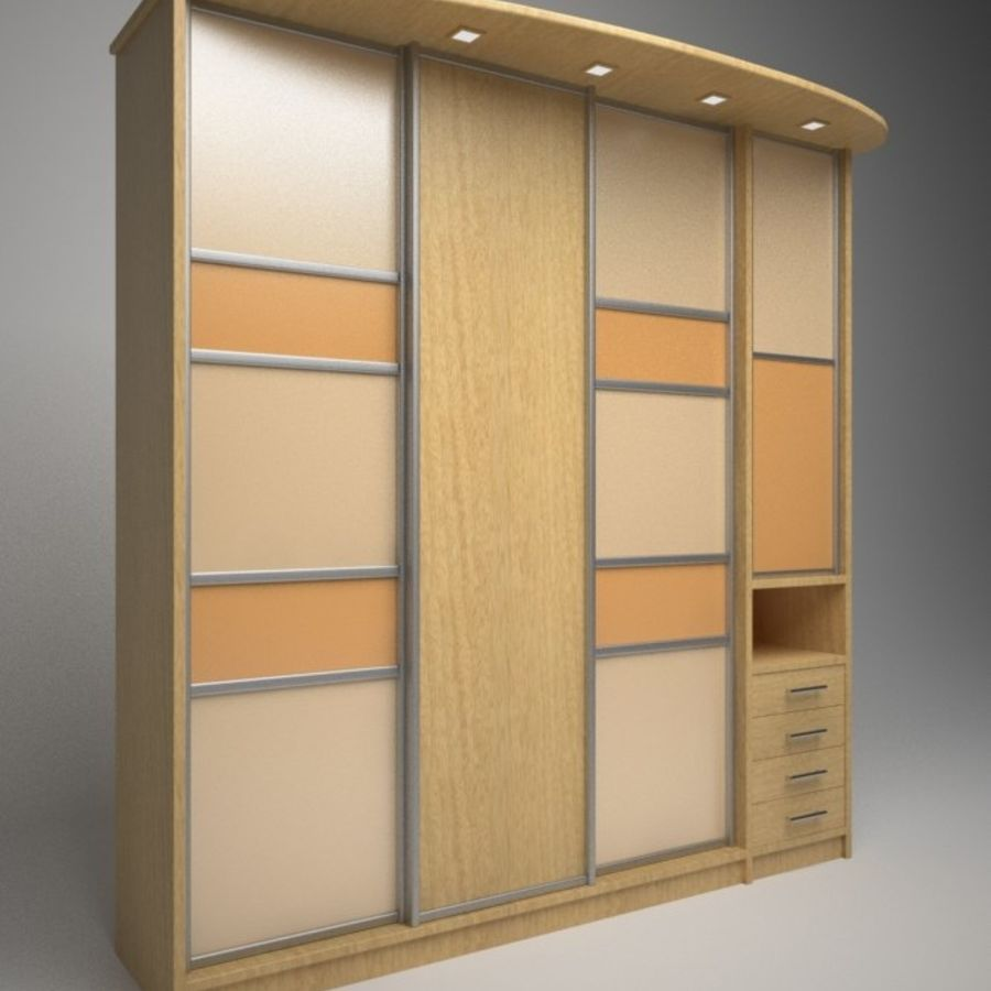 Armoire royalty-free 3d model - Preview no. 3