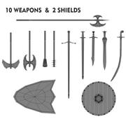Средневековое оружие 3d model