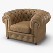 Poltrona Frau Chester Armchair 3d model