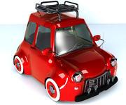 Klasyczny samochód Fiat 3d model