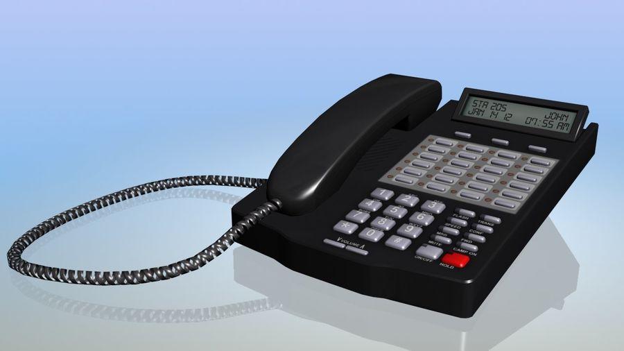 Telefon biurowy royalty-free 3d model - Preview no. 1