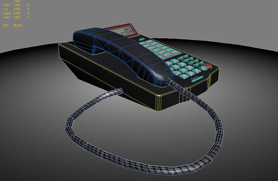 Telefon biurowy royalty-free 3d model - Preview no. 5